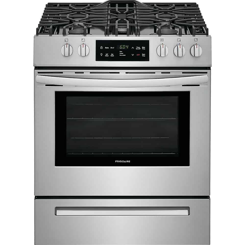 Frigidaire FFGH3054US Front Control Freestanding Gas Range with Self-Cleaning Oven
