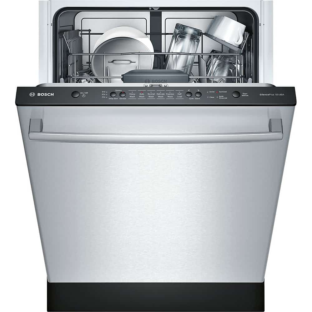 3. Bosch SHX3AR75UC 100 Series w/ Bar Handle Dishwasher