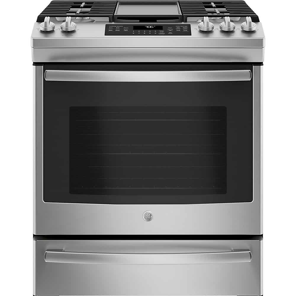 GE JCGS760SELSS Single Oven Gas Range With Self-Cleaning Convection Oven