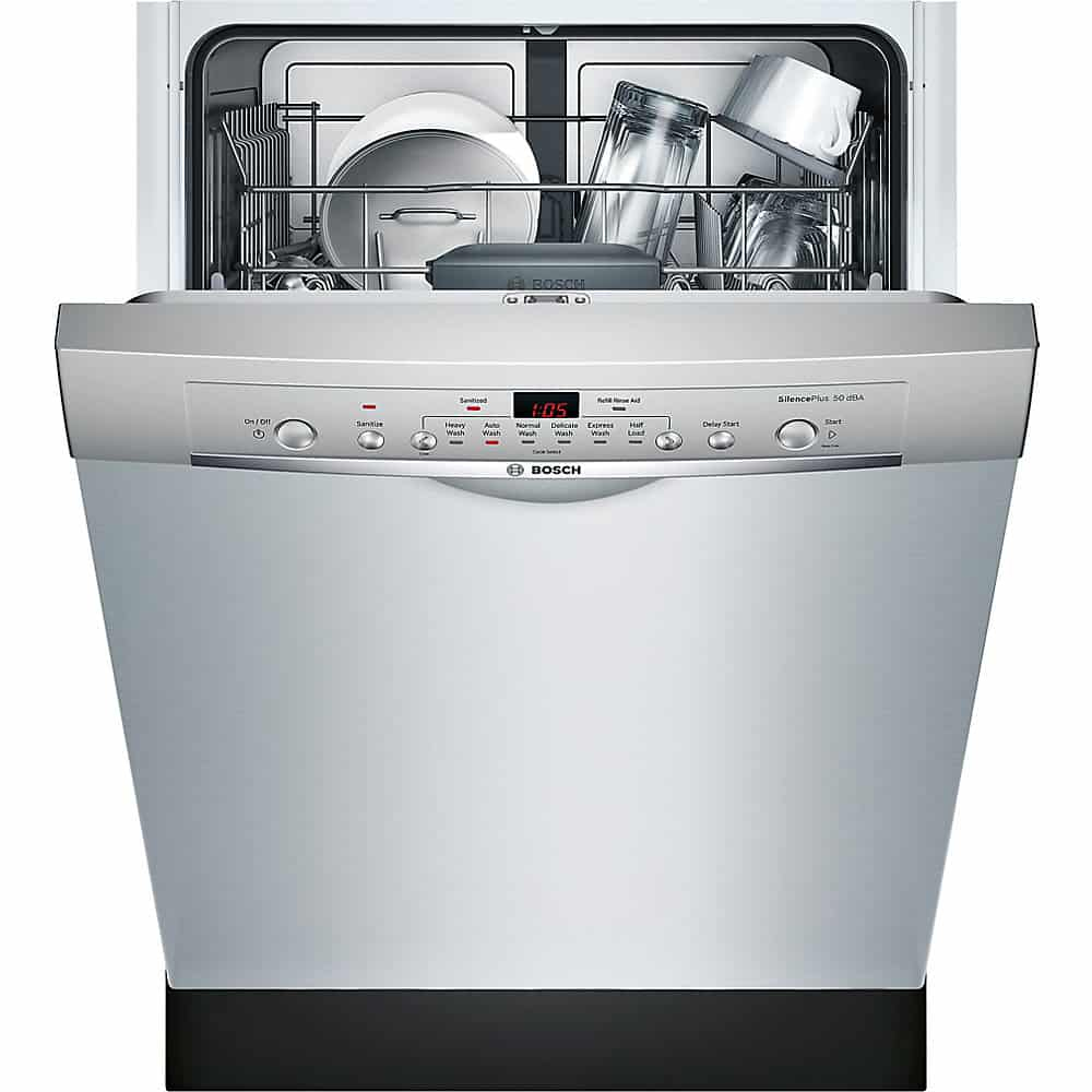 7. Bosch SHE3AR75UC 100 Series w/ Recessed Handle Dishwasher